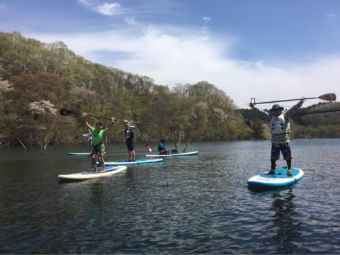 SUP体験IN那須矢の目ダム湖