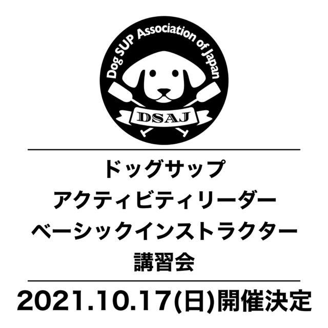 【ドッグサップベーシックアクティビティリーダー/ベーシックインストラクター講習会】 10/17(日)開催決定!申込受付開始